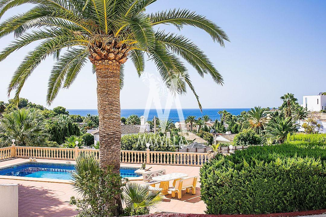 Villa with guest apartment, beautiful sea view, La Fustera Benissa - Max Villas